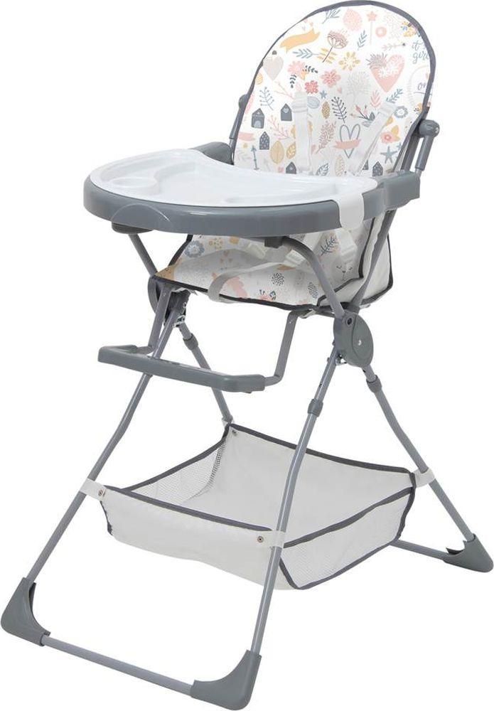 Стульчик для кормления Polini Kids 252 Единорог Hello Baby, 0001704-03, серый стульчик для кормления polini kids 252 единорог радуга 0001713 03 серый