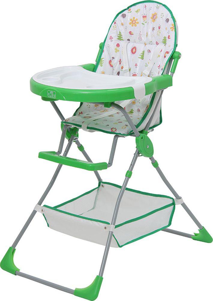Стульчик для кормления Polini Kids 252 Лесные друзья, 0001710-05, зеленый стульчик для кормления polini kids 252 единорог радуга 0001713 03 серый