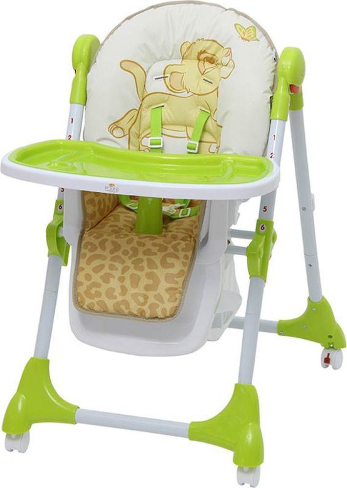 Стульчик для кормления Polini Kids Disney Baby 470 Король лев, 827428, зеленый стульчик для кормления polini kids 252 единорог радуга 0001713 03 серый