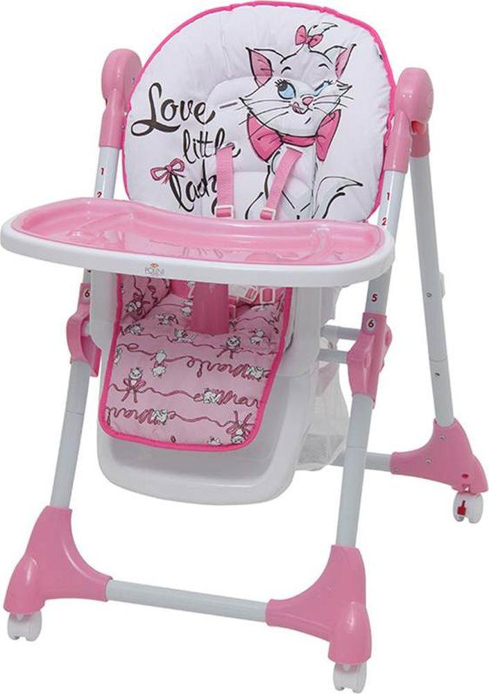 Стульчик для кормления Polini Kids Disney Baby 470 Кошка Мари, 827429, розовый