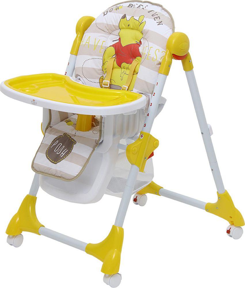 Стульчик для кормления Polini Kids Disney Baby 470 Медвежонок Винни Чудесный день, 827430, желтый okt kids матрас для пеленания disney винни пух okt kids жёлтый