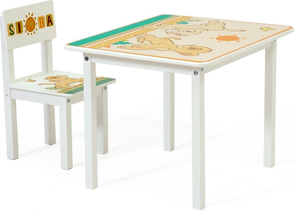 Комплект детской мебели Polini Kids Disney baby 105 S Король Лев, белый