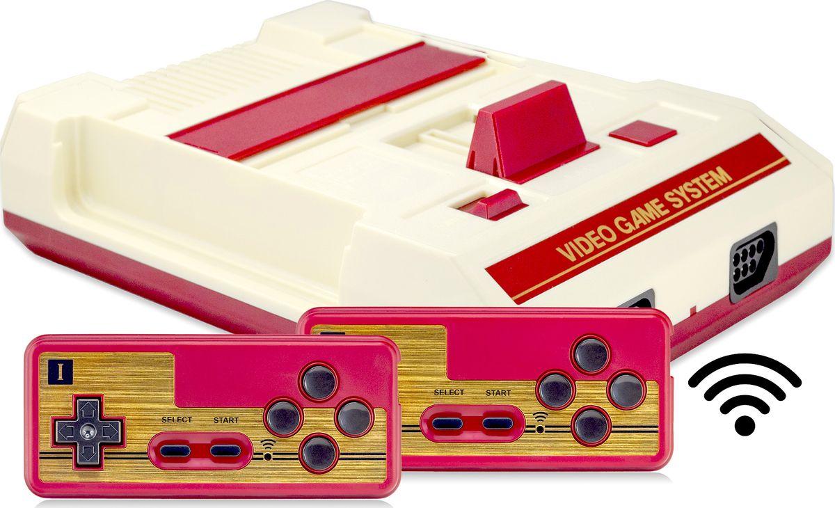 Игровая приставка Retro Genesis 8 Bit Wireless Li-ion + 300 игр (AV кабель, 2 беспроводных аккумуляторных джойстика) new nintendo 2ds xl animal crossing edition gray портативная игровая приставка