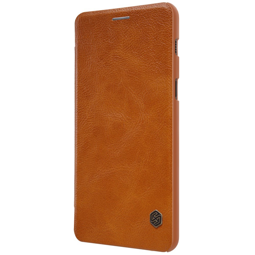 Чехол для сотового телефона Мобильная мода Samsung A8 Plus 2018 Чехол-книжка Nillkin, QIN, коричневый цена и фото