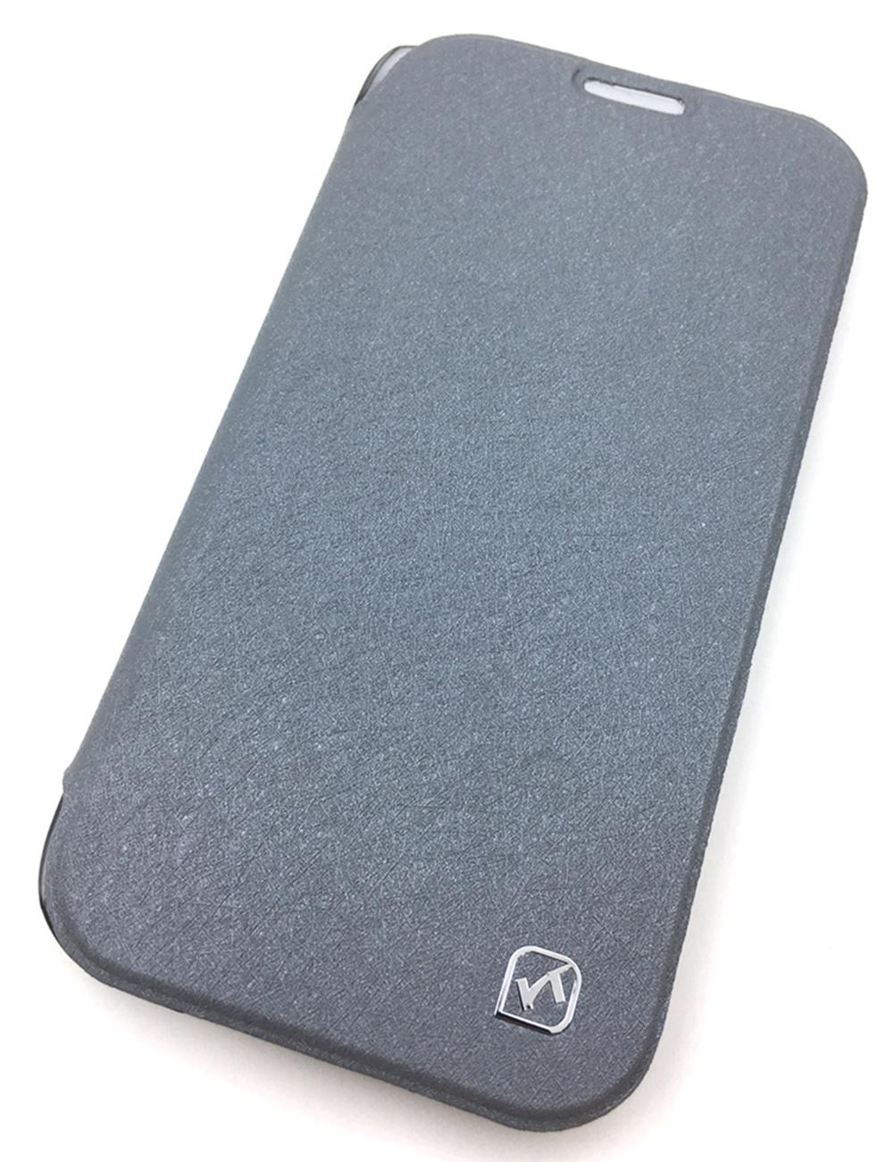 Чехол для сотового телефона Мобильная мода Samsung S4 Чехол-книжка HOCO Ice Series, пластик, серый