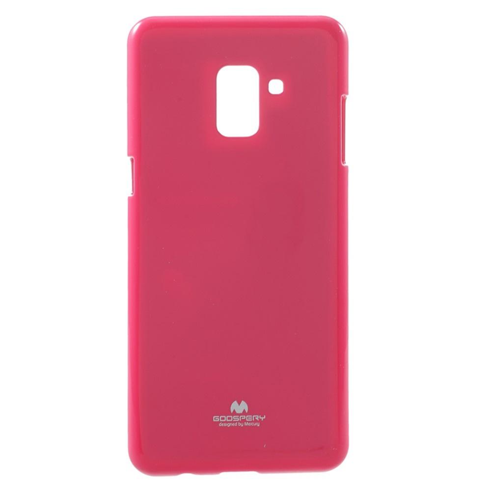 Чехол для сотового телефона Goospery Samsung A8 Plus 2018 Накладка Mercury Jelly Case ламинированный силикон, розовый