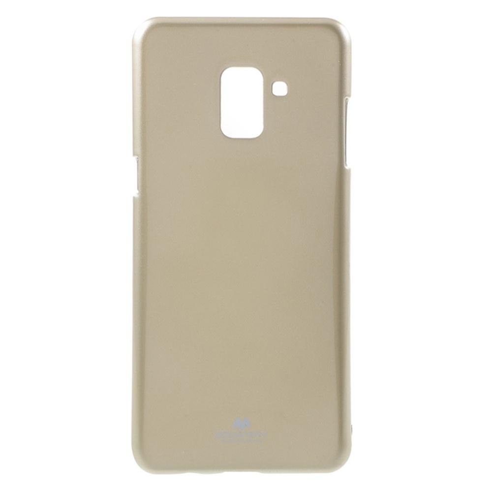 Чехол для сотового телефона Goospery Samsung A8 Plus 2018 Накладка Mercury Jelly Case ламинированный силикон, золотой