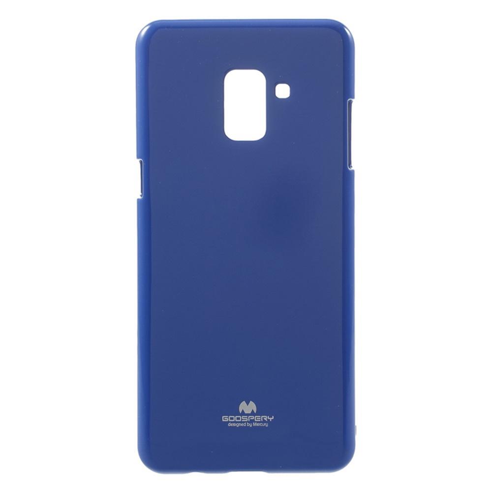 Чехол для сотового телефона Goospery Samsung A8 Plus 2018 Накладка Mercury Jelly Case ламинированный силикон, синий запчасти mercury