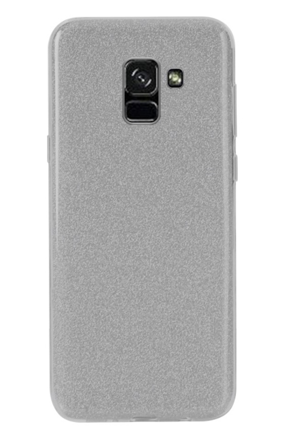 Чехол для сотового телефона Мобильная мода Samsung A8 Plus 2018 Накладка, NXE Glittery Powder PC + TPU, серый, 1528, серый металлик