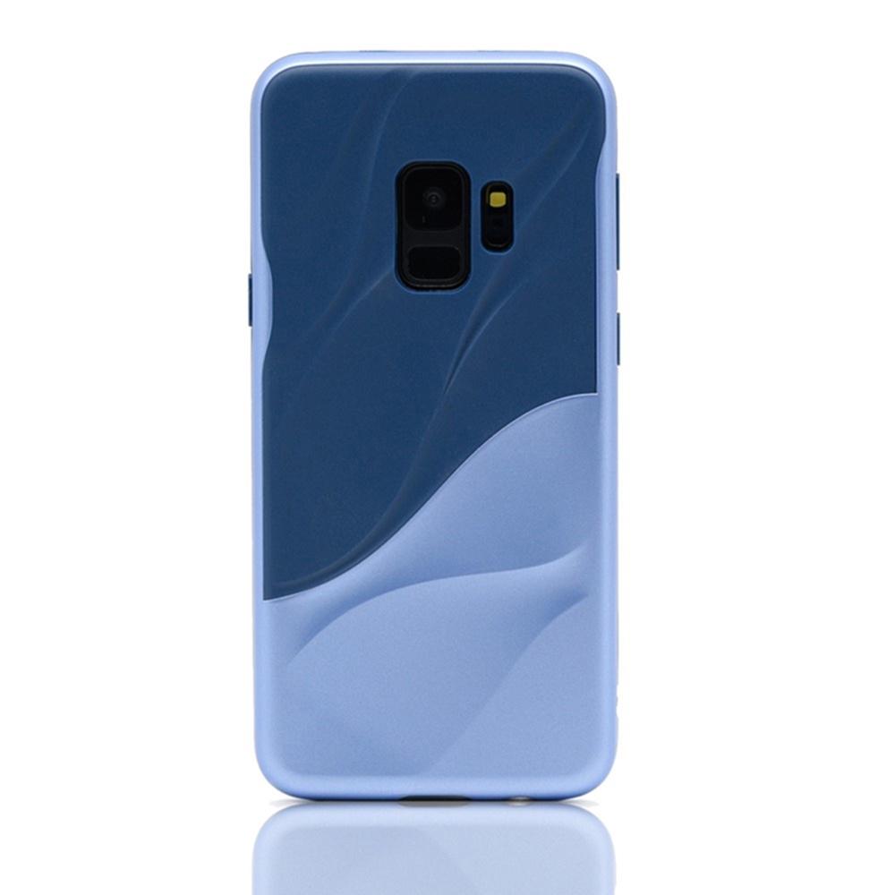 Чехол для сотового телефона Мобильная мода Samsung S9 Накладка силиконовая, противоударная, серия - волна, 1539, синий чехол для сотового телефона мобильная мода samsung s9 чехол книжка пластиковая под оригинал 1535 синий