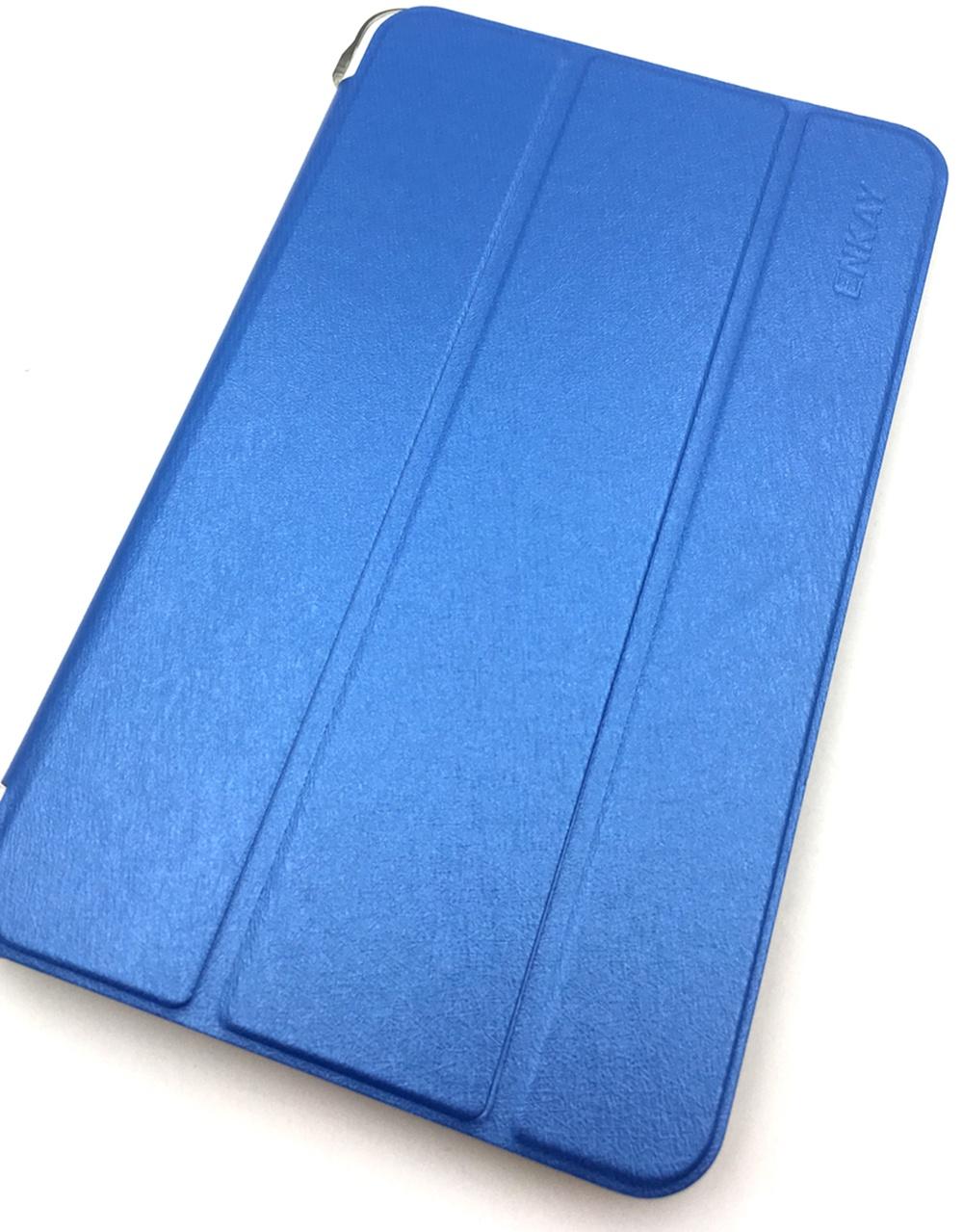 Чехол для планшета Мобильная мода Samsung Tab E 8.0 T375/T377 Чехол-книжка Enkay, Leather Case, 5370, голубой