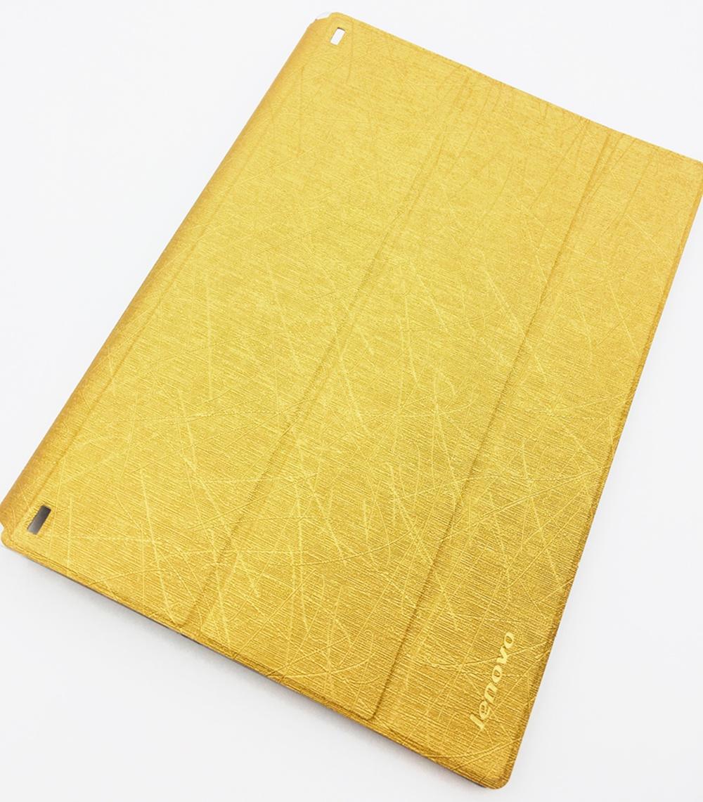 Чехол для планшета Мобильная мода Lenovo Tab 2 A10-50 Чехол-книжка со складывающейся крышкой, золотой
