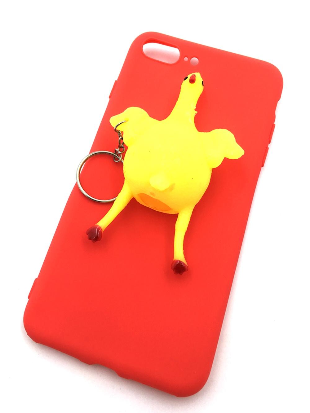 лучшая цена Чехол для сотового телефона Мобильная мода iPhone 7 Plus Накладка резиновая 3D, Курица, 7145, красный