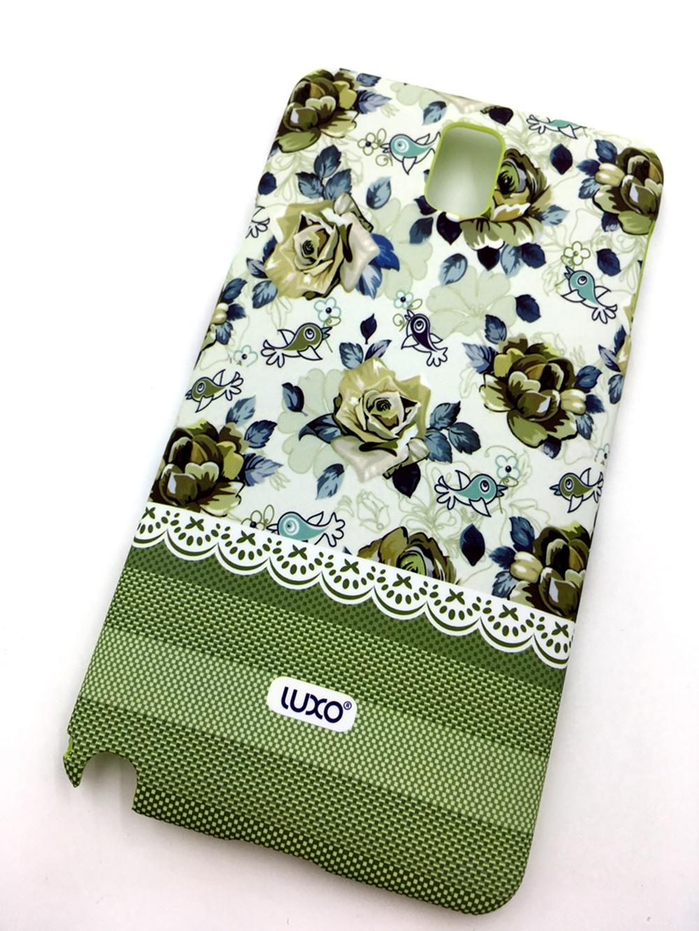 """Чехол для сотового телефона Мобильная мода Samsung Galaxy Note 3 Накладка пластиковая, нескользящее покрытие, """"LUXO"""", 10307, зеленый"""