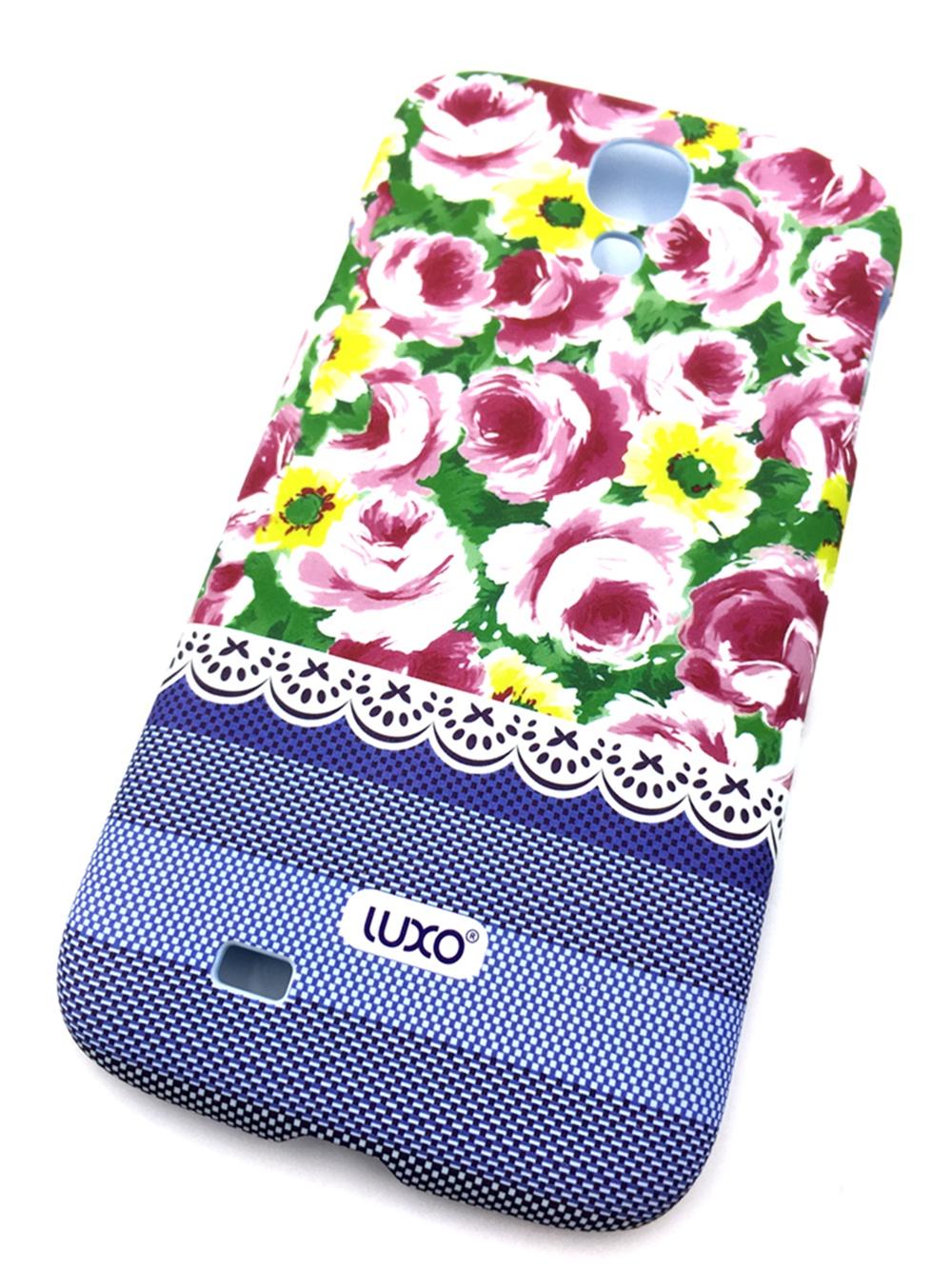 Чехол для сотового телефона Мобильная мода Samsung S4 Накладка LUXO пластиковая с нескользящим покрытием (Elegant Flower), 10401