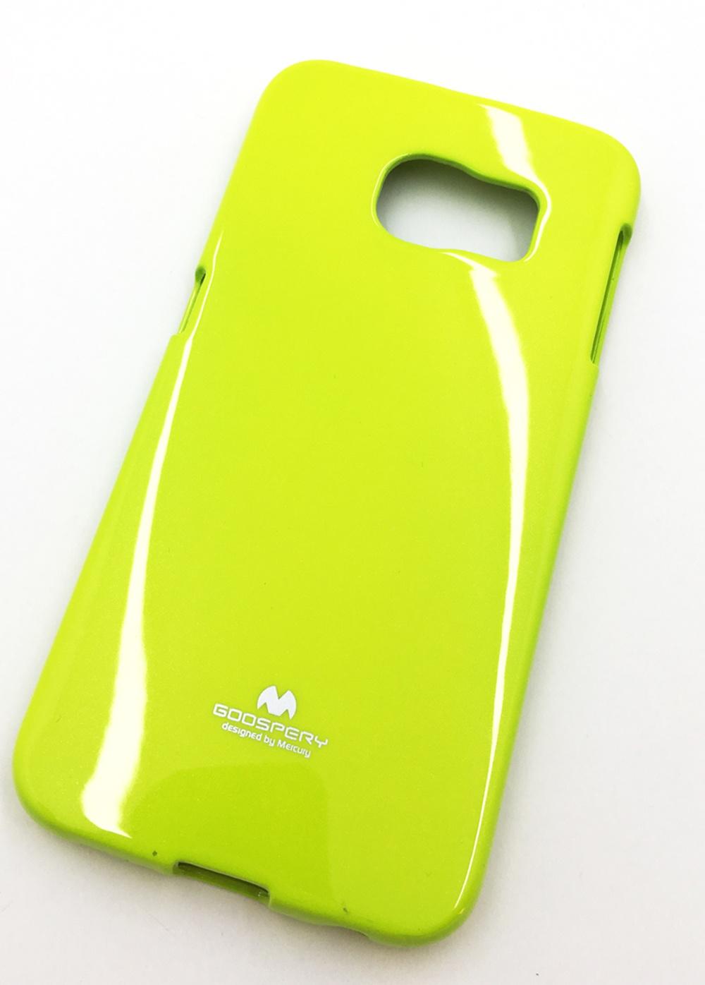 """Чехол для сотового телефона Goospery Samsung S6 Edge Накладка """"Mercury"""" Jelly Case ламинированный силикон, зеленый"""