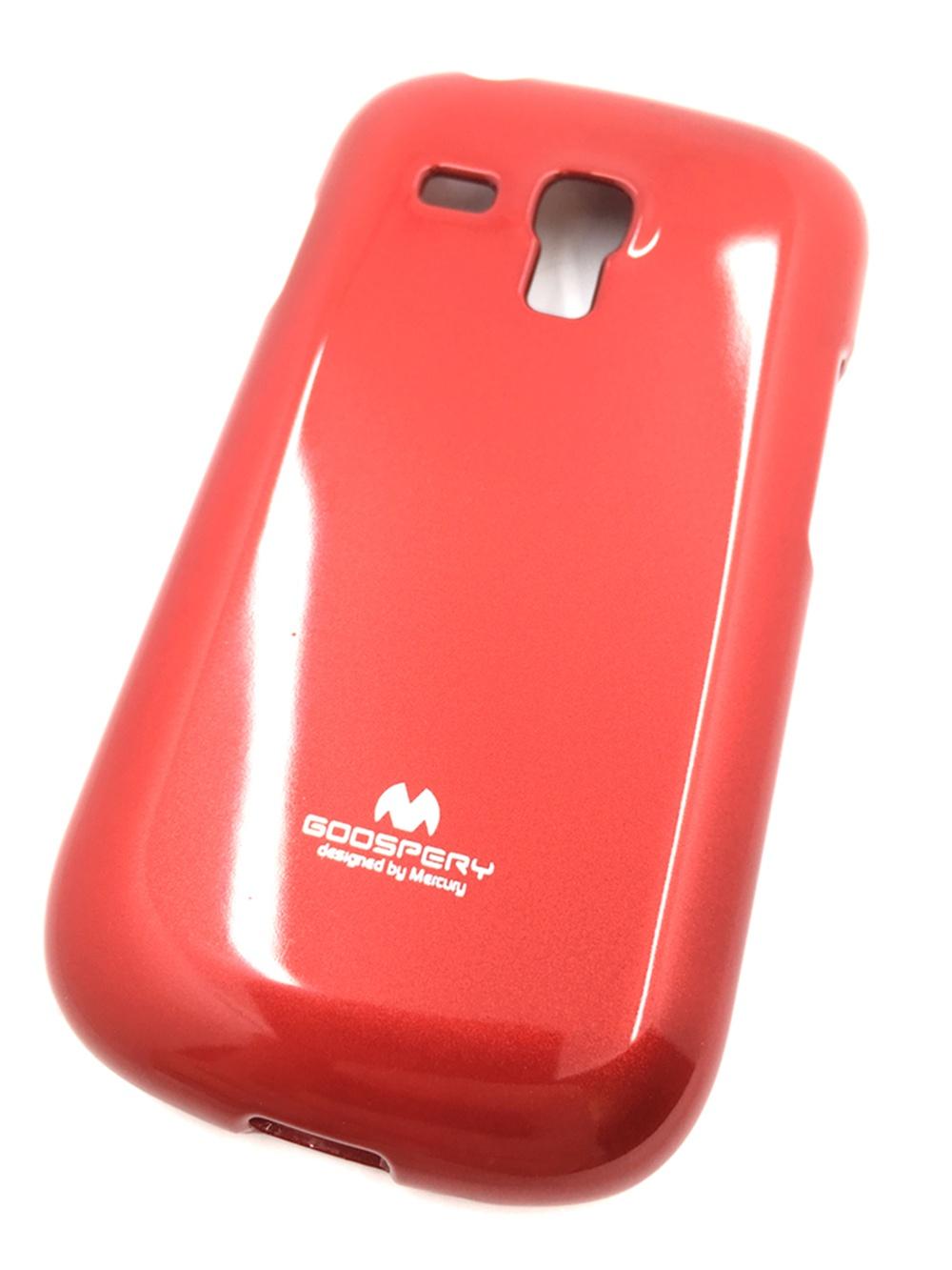 """Чехол для сотового телефона Goospery Samsung S3 mini Накладка """"Mercury"""" Jelly Case ламинированный силикон, красный"""