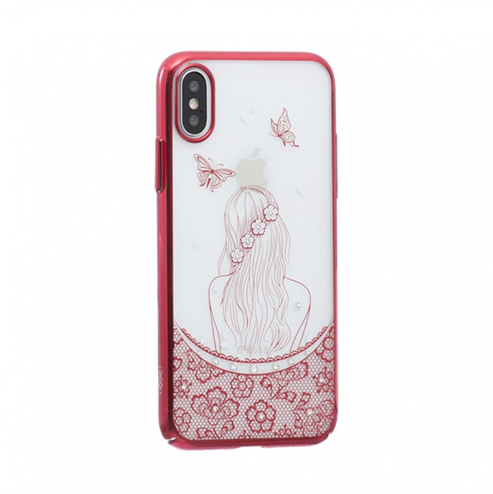 Чехол для сотового телефона Мобильная мода iPhone X Накладка пластиковая XO кристаллы Swarovski, девушка furniture xo