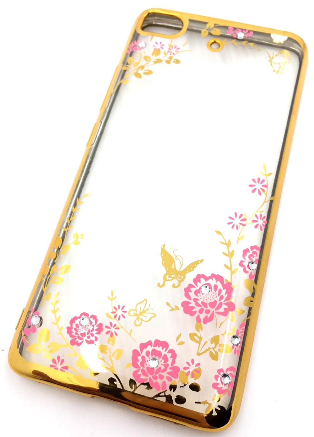 Чехол для сотового телефона Мобильная мода Xiaomi Mi5S Силиконовая, прозрачная накладка со стразами, золотой чехол для сотового телефона мобильная мода meizu pro 6 силиконовая прозрачная накладка со стразами 6371g золотой
