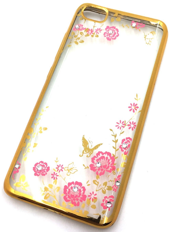 Чехол для сотового телефона Мобильная мода Xiaomi Mi5 Силиконовая, прозрачная накладка со стразами, золотой
