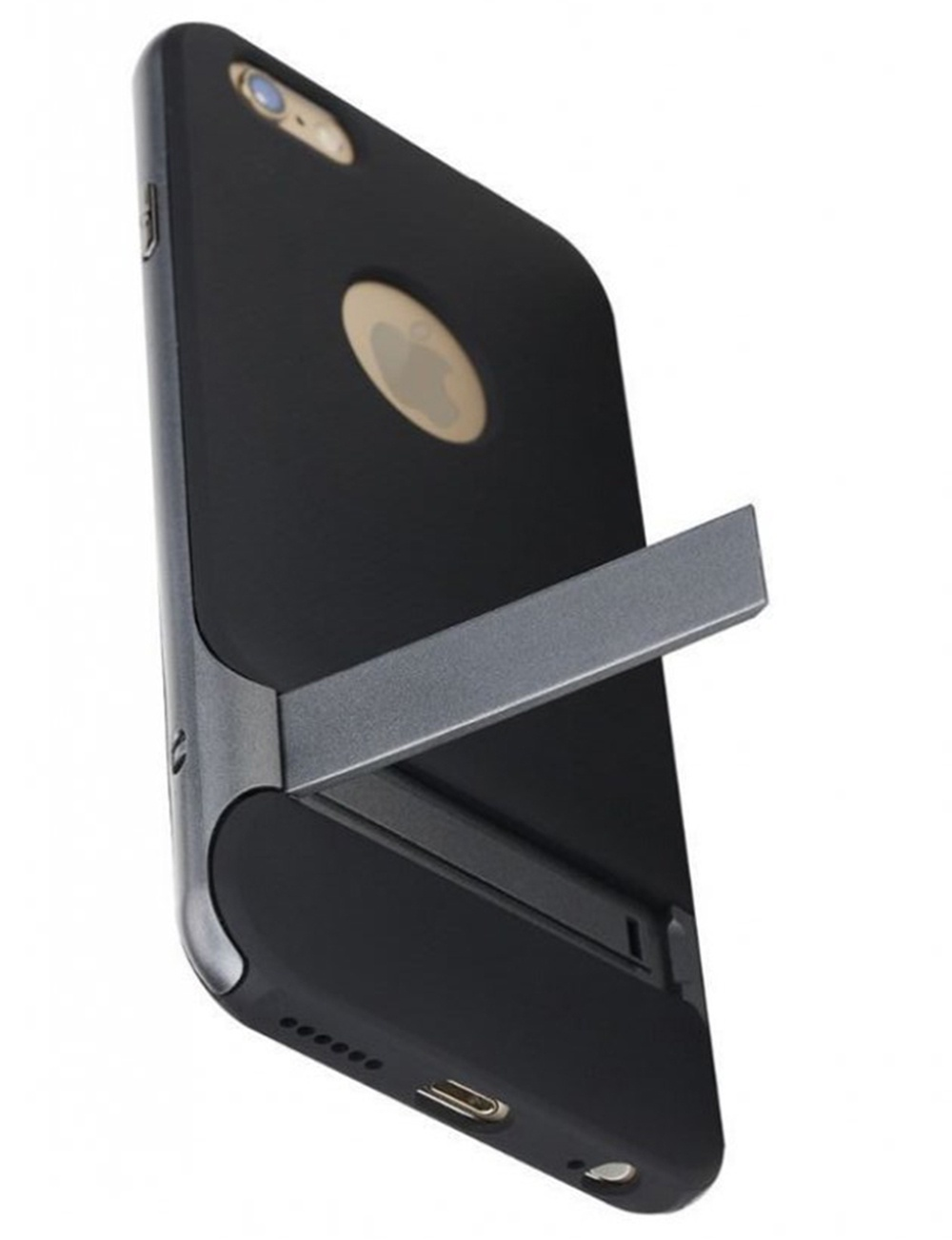Чехол для сотового телефона ROCK iPhone 7 PlusRoyce Kickstand, серый аксессуар чехол rock elite series для iphone 7 plus brown