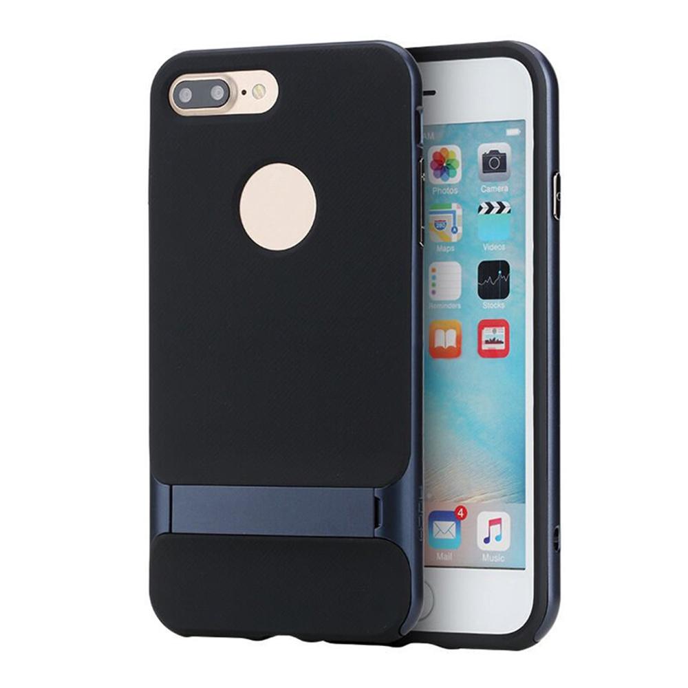 Чехол для сотового телефона Rock iPhone 7 PlusRoyce Kickstand, темно-синий брюки для беременных one plus one цвет темно синий v632335 размер 46