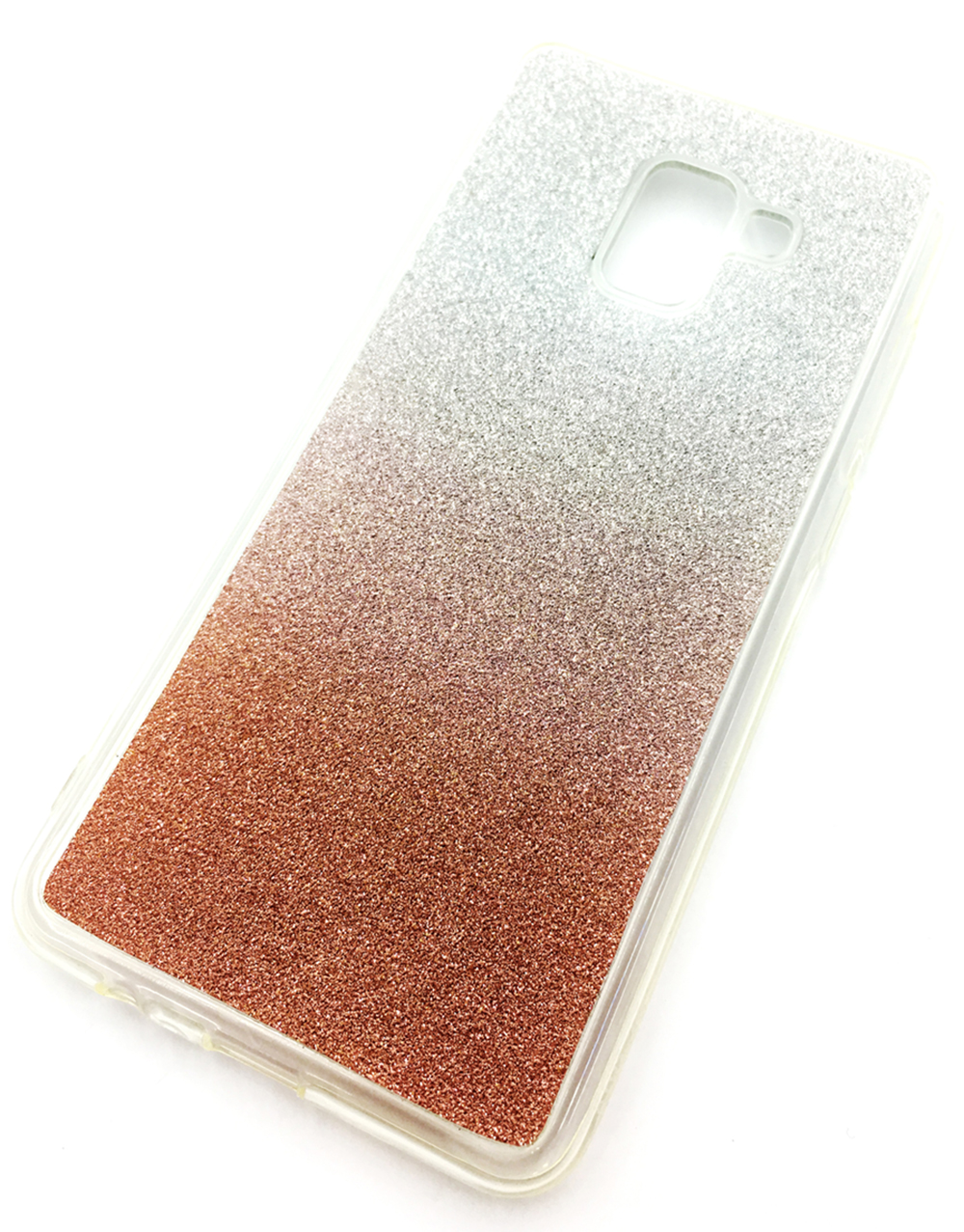Чехол для сотового телефона Мобильная мода Samsung A8 Plus 2018 Накладка силиконовая, блестящая, градиент, 7272D, серебристый чехол для сотового телефона мобильная мода samsung a8 plus 2018 накладка nxe glittery powder pc tpu красный 1529 красный