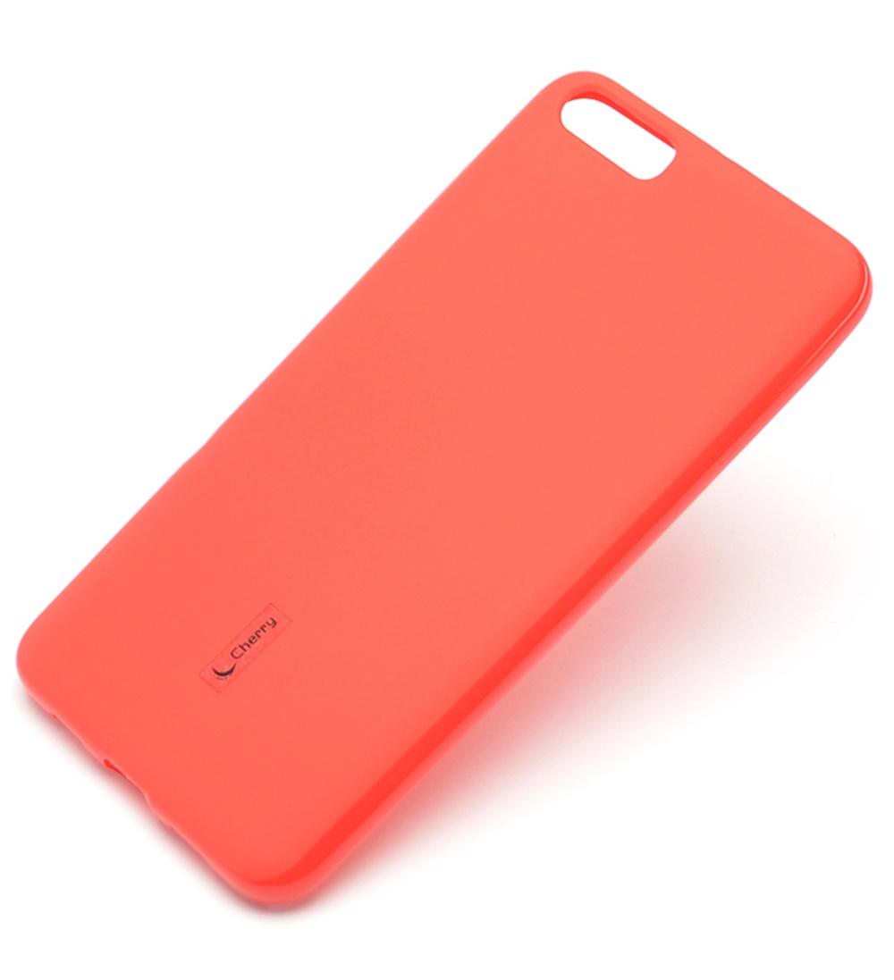 Чехол для сотового телефона Мобильная мода Xiaomi Mi6 plus Накладка резиновая с пленкой на экран Cherry, красный чехол для сотового телефона мобильная мода samsung a8 plus 2018 накладка nxe glittery powder pc tpu красный 1529 красный