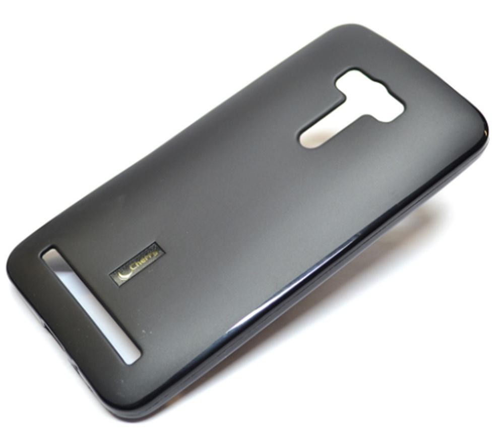 Чехол для сотового телефона Cherry Asus Zenfone Selfie ZD551KL Накладка резиновая с пленкой на экран, черный все цены