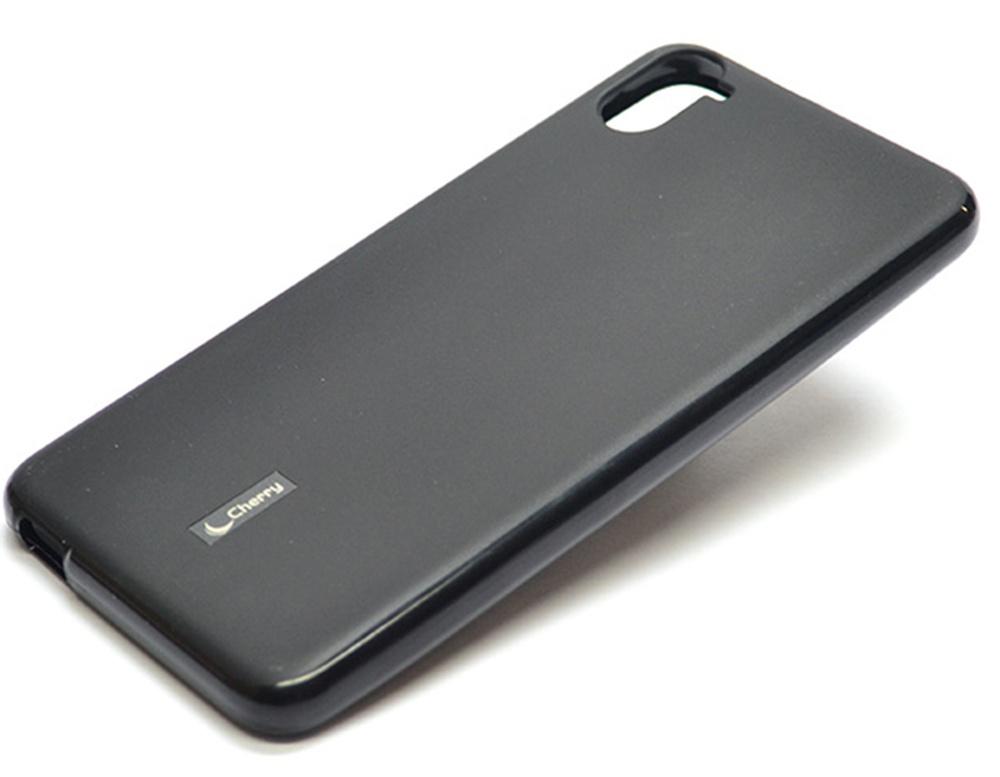 Чехол для сотового телефона Cherry HTC desire 826 Накладка резиновая с пленкой на экран, CRR-095, черный