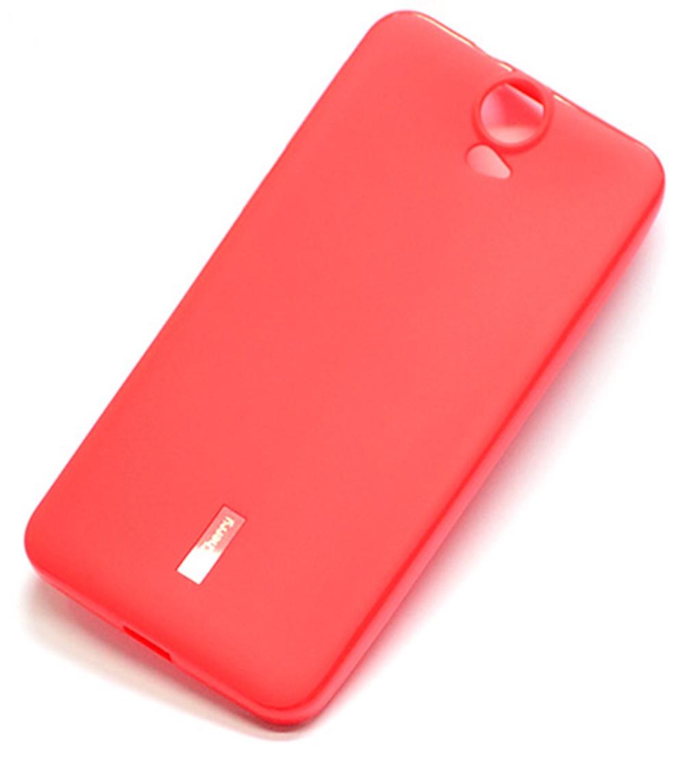 Чехол для сотового телефона Cherry HTC ONE E9 plus Накладка резиновая с пленкой на экран, красный цена