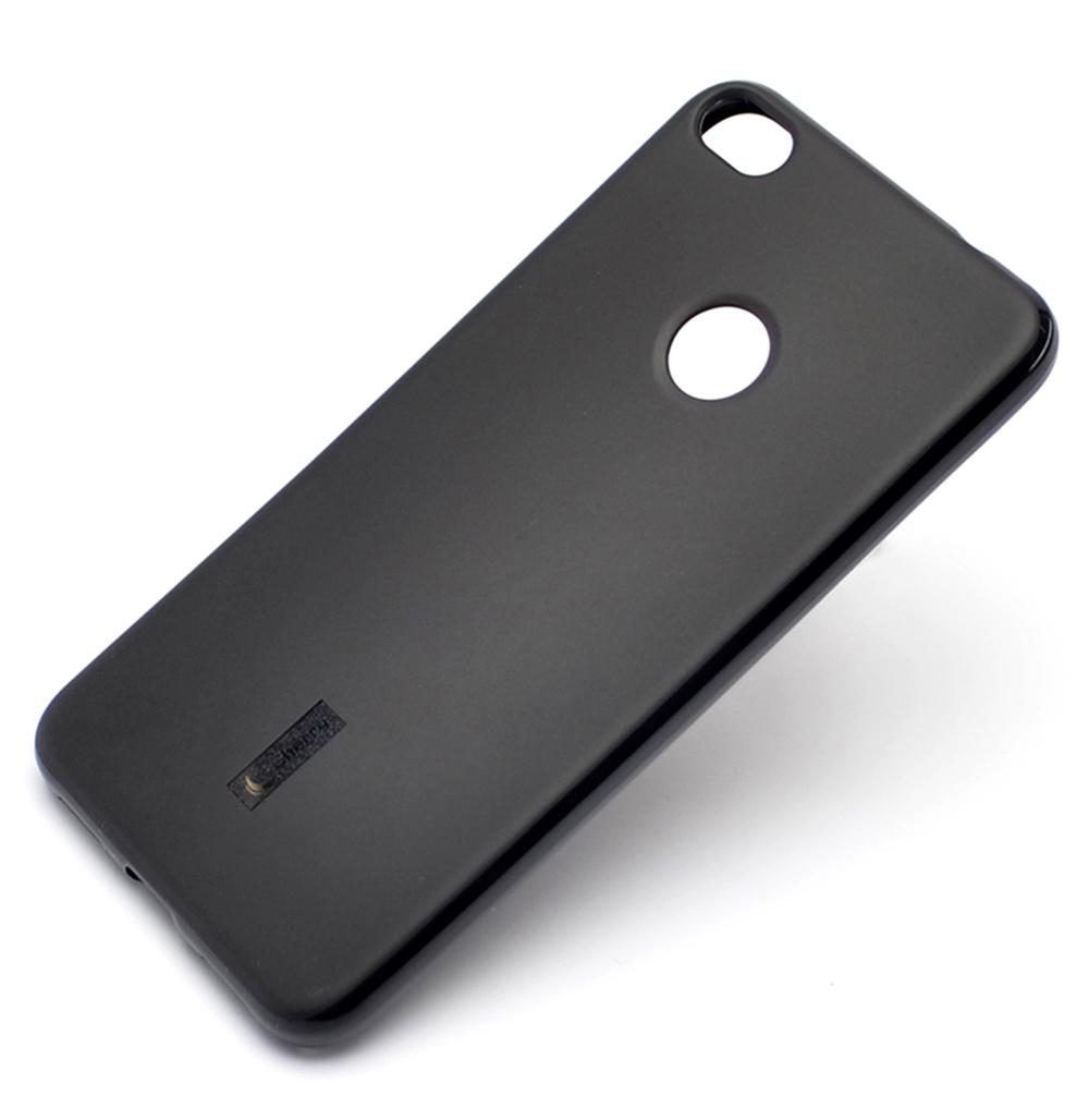 Чехол для сотового телефона Cherry Honor 8 lite 2017 Накладка резиновая с пленкой на экран, черный