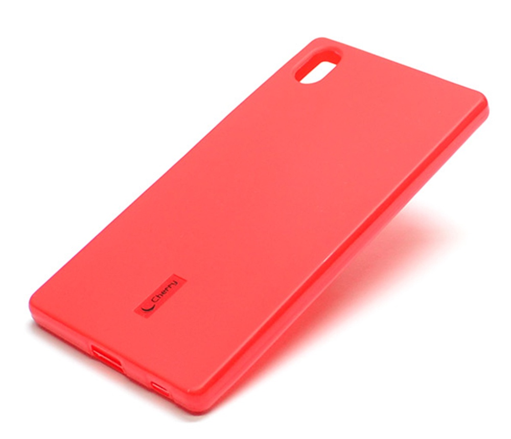 Чехол для сотового телефона Cherry Sony Z5 Накладка резиновая с пленкой на экран Cehrry, красный все цены