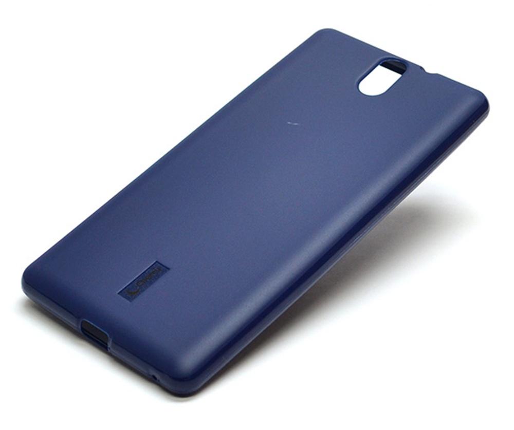Чехол для сотового телефона Cherry Sony Xperia C5 Накладка резиновая с пленкой на экран, синий чехол накладка ipapai ассорти морской для sony xperia c5
