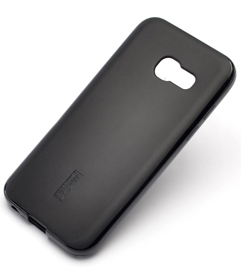 Чехол для сотового телефона Cherry Samsung A3 2017 Накладка резиновая с пленкой на экран Cherry, CRR-878, черный