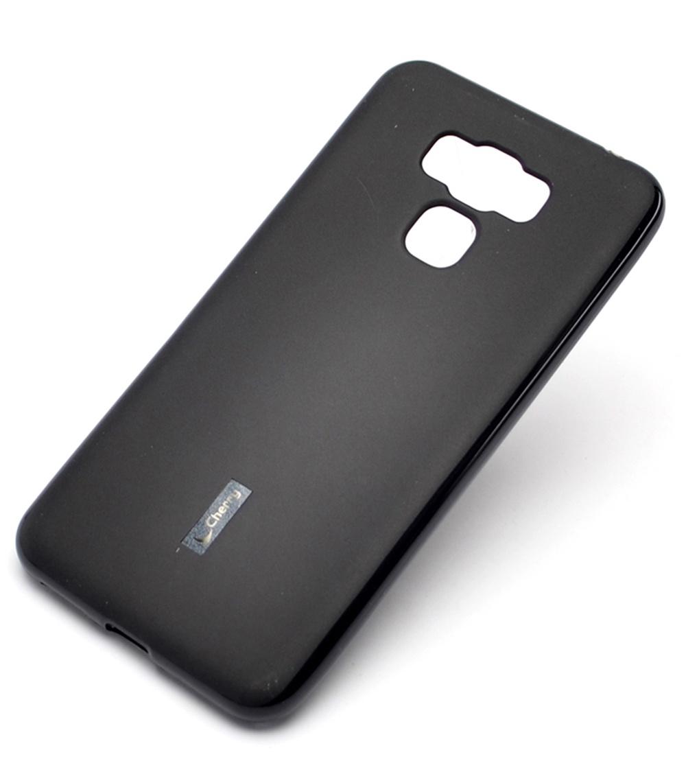Чехол для сотового телефона Cherry Asus Zenfone 3 Max ZC553KL Накладка резиновая с пленкой на экран, черный zc553kl 4h112ru