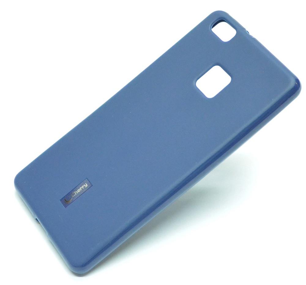 Чехол для сотового телефона Cherry Huawei P9 lite 2017 Накладка резиновая с пленкой на экран, синий