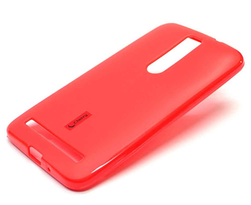 Чехол для сотового телефона Cherry Asus Zenfone 2 ZE551ML Накладка резиновая с пленкой на экран, красный