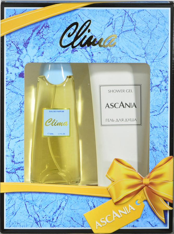 Парфюмированный набор Ascania Clima Туалетная вода, 50 мл + Гель для душа, 125