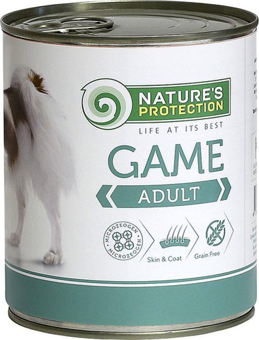Консервы Nature's Protection Adult Game для собак, дичь, 800 г