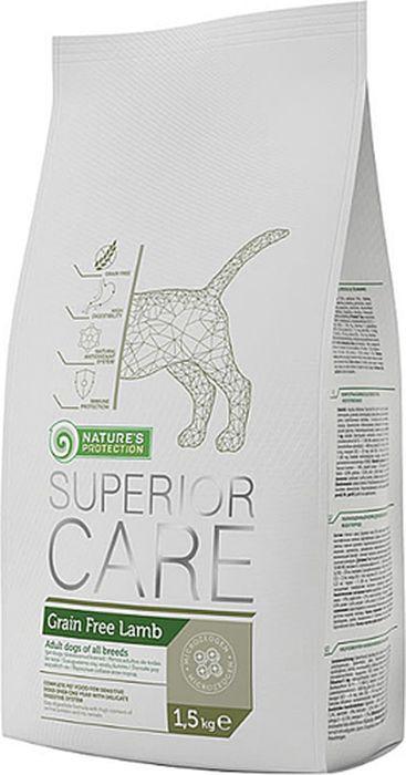 Корм сухой Nature's Protection беззерновой для собак, ягненок, 1,5 кг сухой корм для собак супер премиум класса рейтинг 2016 отзывы 5 лучших