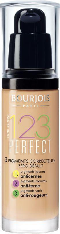 Bourjois Тональный крем 123 Perfect Foundation, тон №51, цвет: легкая ваниль, 30 мл divage тональный крем foundation luminous тон 01 25 мл