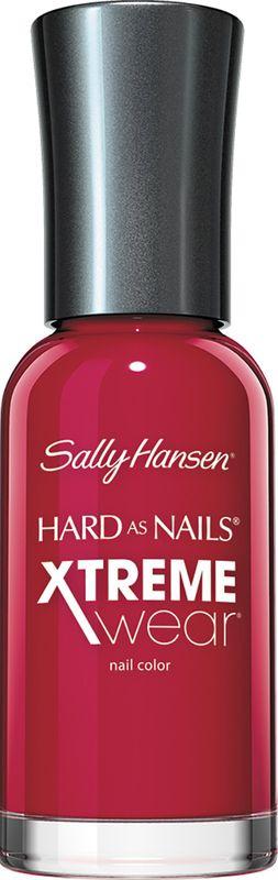 Sally Hansen Лак для ногтей Hard As Nails Xtreme Wear Nail Color, тон №160 Cherry Red, 11,8 мл30070018007Палитра оттенков лака Sally Hansen Hard As Nails Xtreme Wear Nail Color отражает тенденции молодежной моды. Лак обеспечивает стойкий блестящий маникюр, который держится до 7 дней. Содержит биоактивное стекло, обеспечивающее прочное сцепление лака с ногтевой пластиной. Характеристики: Объем: 11,8 мл. Тон: №160. Производитель: США. Артикул: 4860-07. Товар сертифицирован.