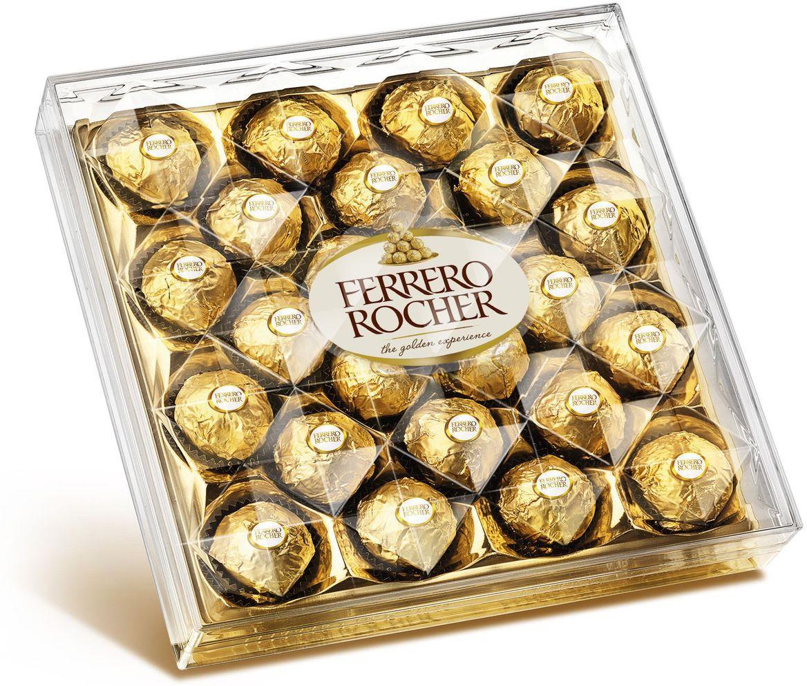 Фото - Ferrero Rocher конфеты хрустящие из молочного шоколада, покрытые измельченными орешками, с начинкой из крема и лесного ореха, 300 г ferrero prestige набор конфет mon cheri ferrero rocher pocket coffee espresso 246 г