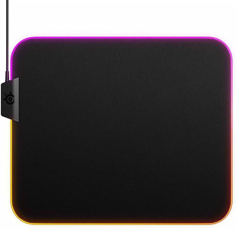 Игровой коврик для мыши SteelSeries QcK Prism Cloth Medium, 63825, черный