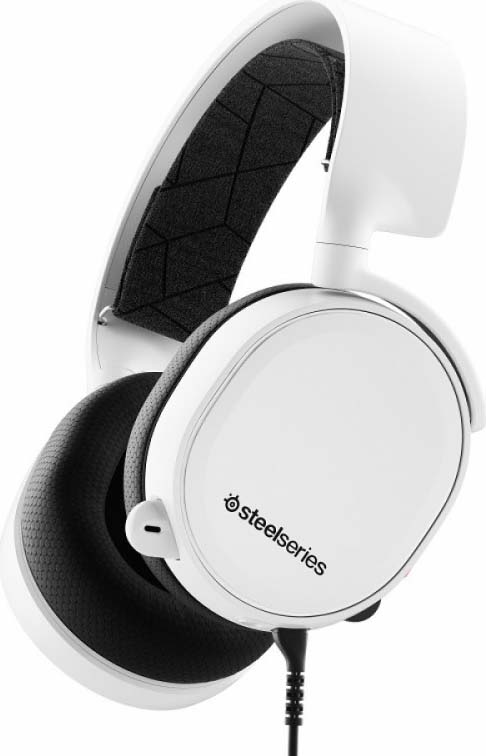 Игровые наушники SteelSeries Arctis 3 2019 Edition, 61506, белый, черный steelseries arctis 7 2019 edition black