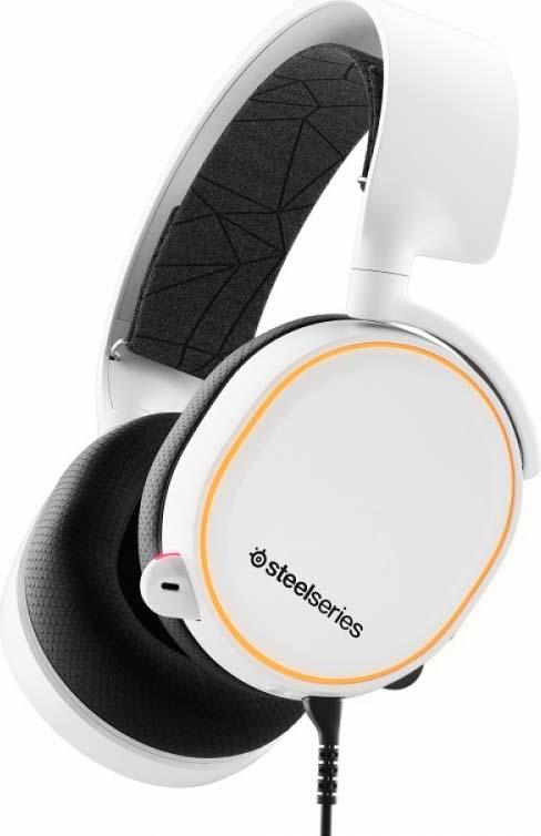 Игровые наушники SteelSeries Arctis 5 2019 Edition, 61507, белый, черный наушники с микрофоном steelseries arctis 5