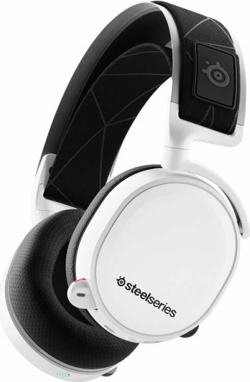 Игровые наушники SteelSeries Arctis 7 2019 Edition, 61508, белый, черный наушники с микрофоном steelseries arctis 5