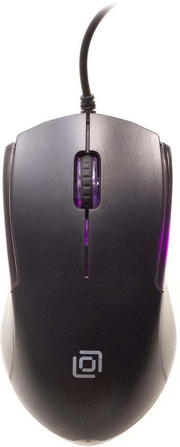 Мышь проводная Oklick, 245M, черный лей бай rapoo v210 игровая мышь игры мышь проводная мышь мышь для ноутбука индиго miss адаптированная версия