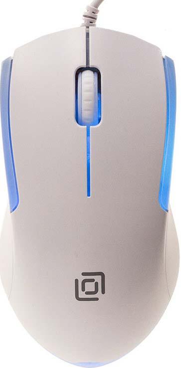 Мышь проводная Oklick, 245M, белый лей бай rapoo v210 игровая мышь игры мышь проводная мышь мышь для ноутбука индиго miss адаптированная версия